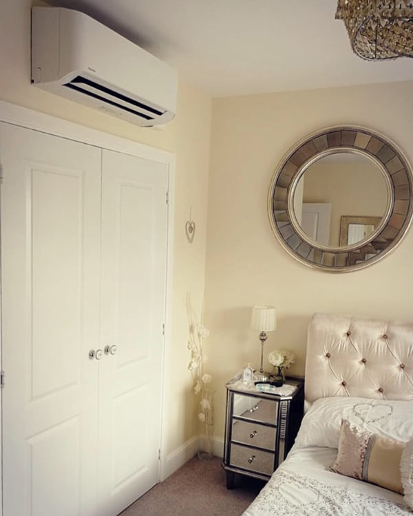 Home Air Conditioning Unit Installation in the Bedroom