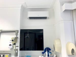 Dental practice air conditioning