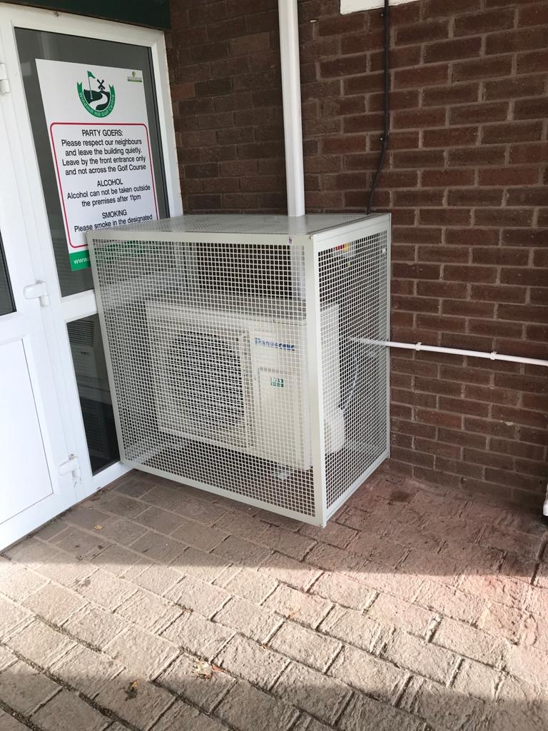 Condenser cage fitted