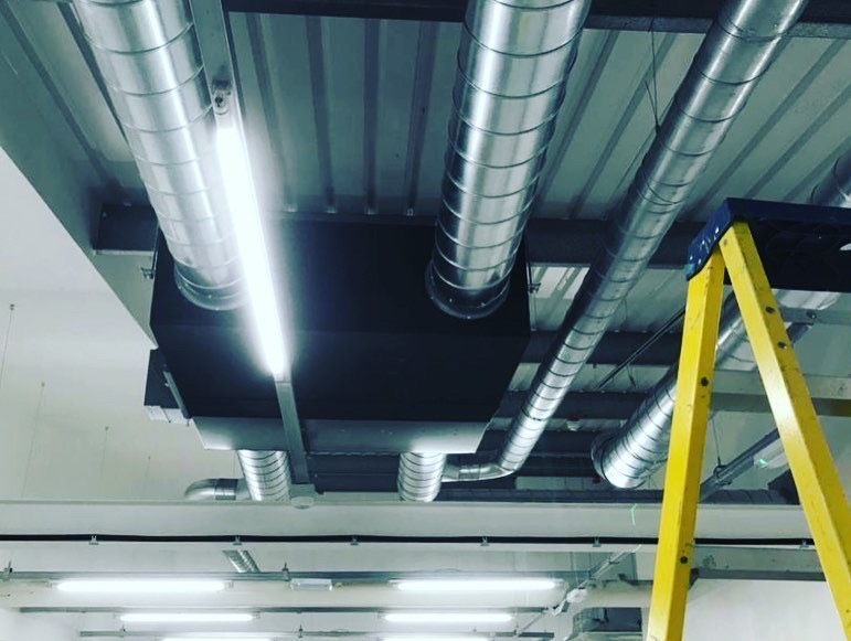 Commercial heat recovery install