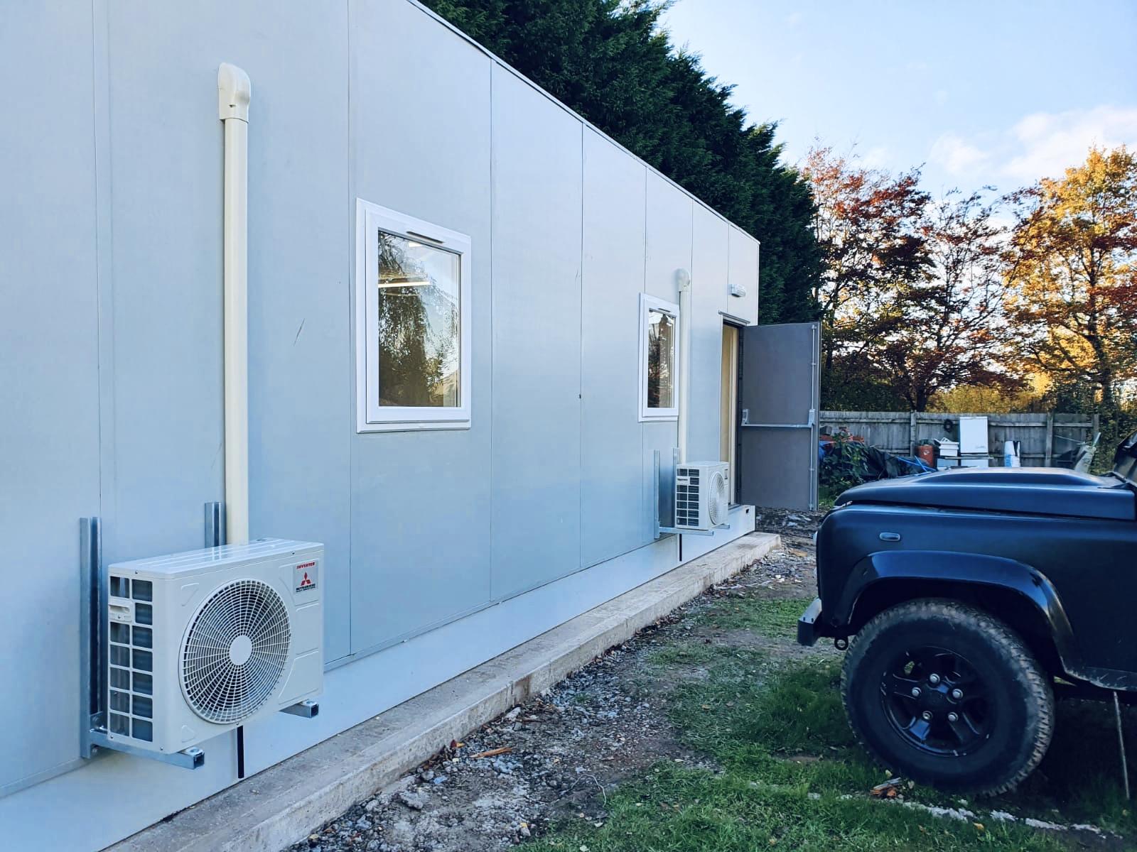 Portable building installation