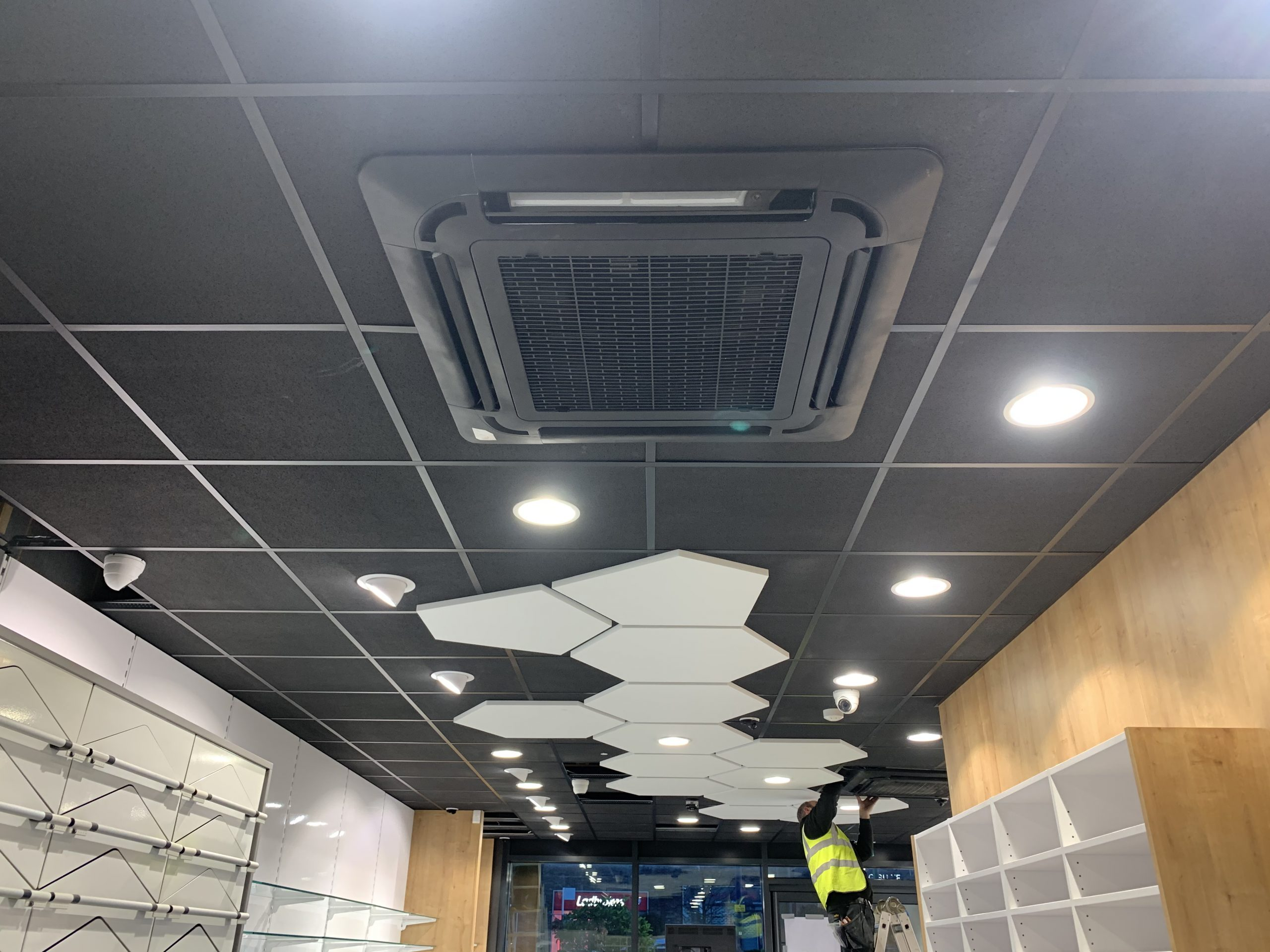 Shop fit installation